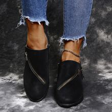 Stiefel mit Reissverschluss & Schnalle Dekor