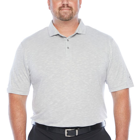 PGA TOUR Mens Short Sleeve Polo Shirt Big and Tall, 3x-large Tall , Gray
