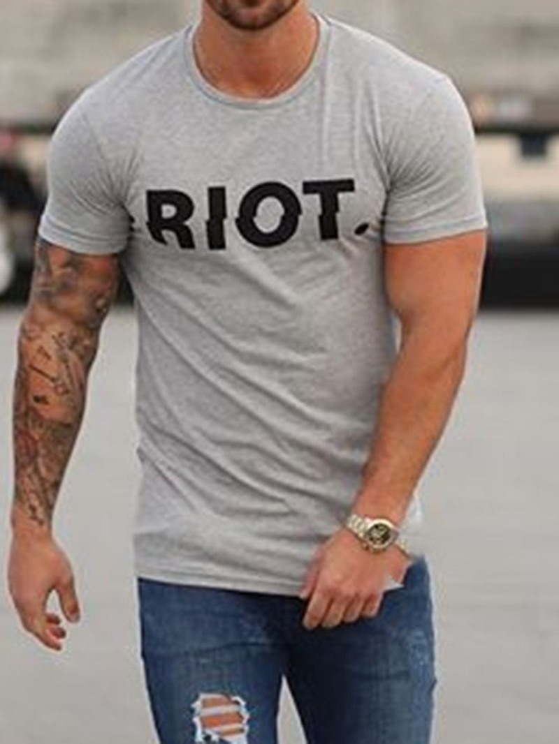 Ericdress Letter Print Casual Loose Mens T-shirt