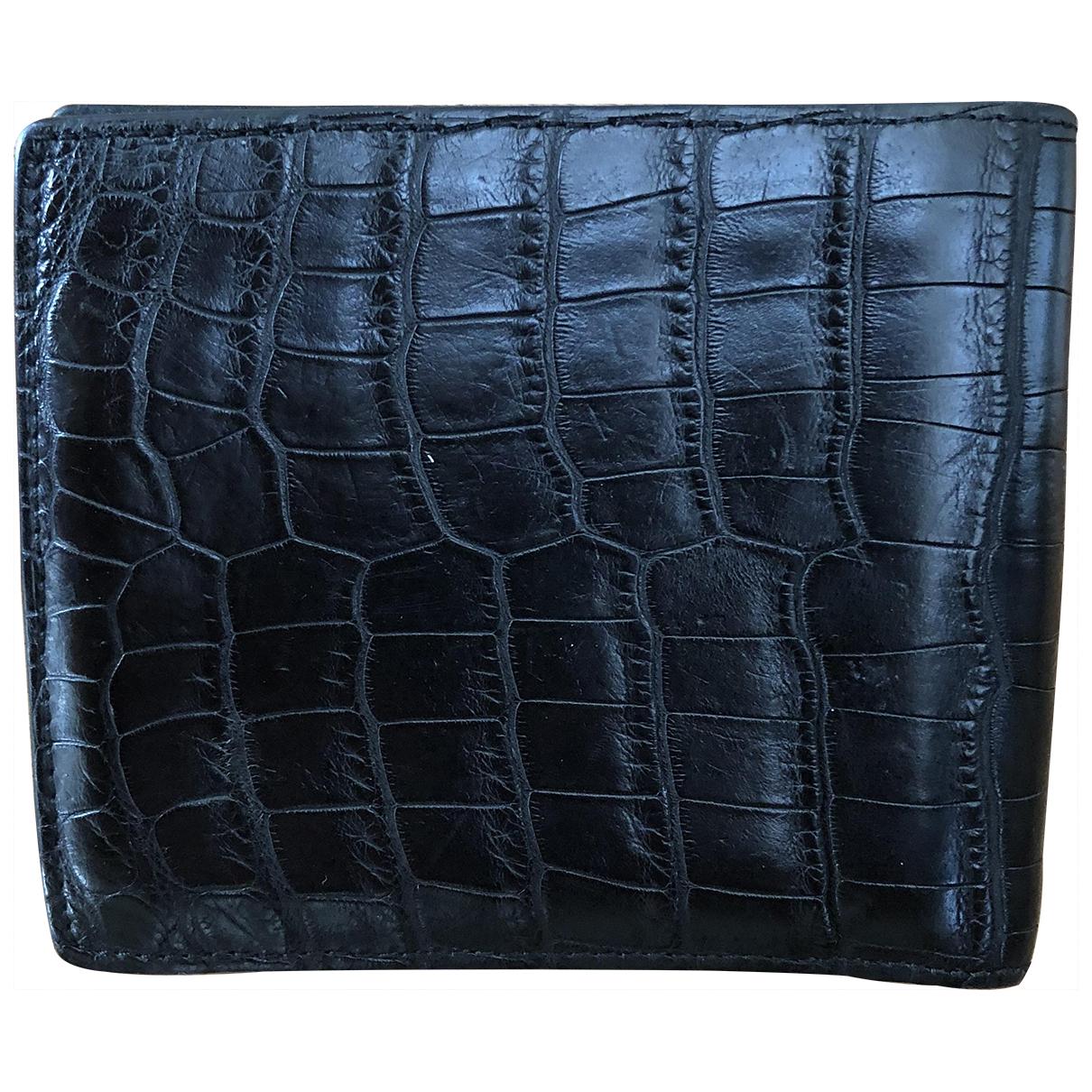 Alfred Dunhill \N Black Crocodile Small bag, wallet & cases for Men \N