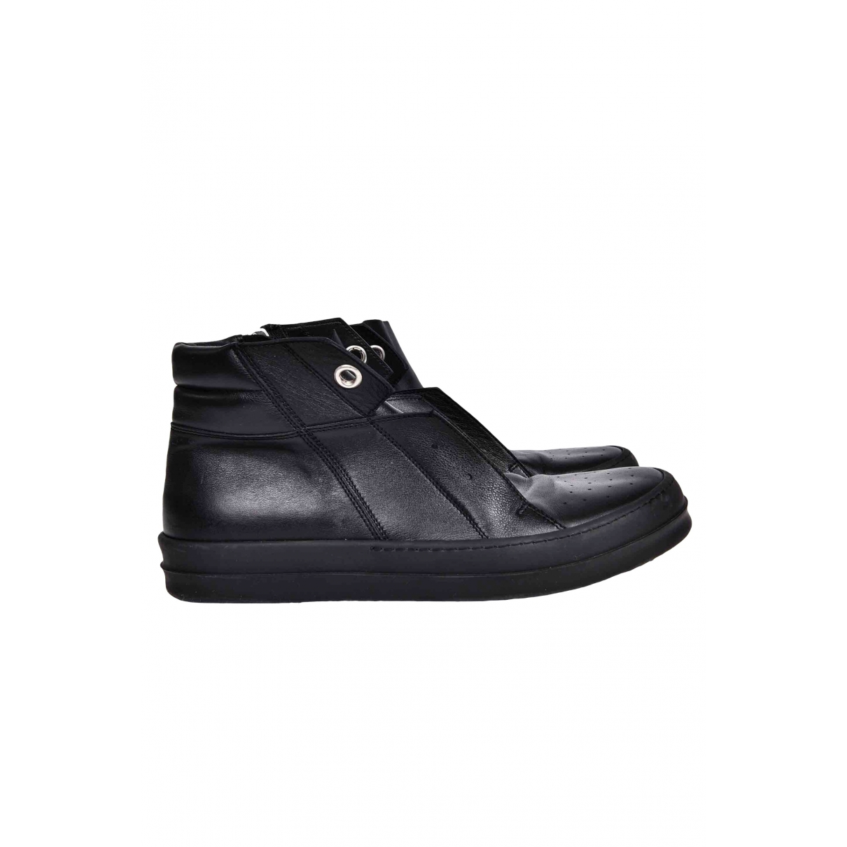 Rick Owens \N Black Leather Trainers for Men 44 EU