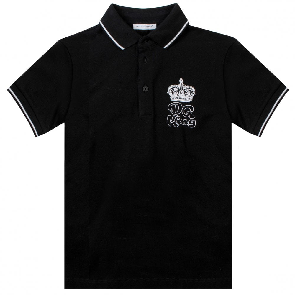 Dolce & Gabbana King Polo Colour: BLACK, Size: 12 YEARS