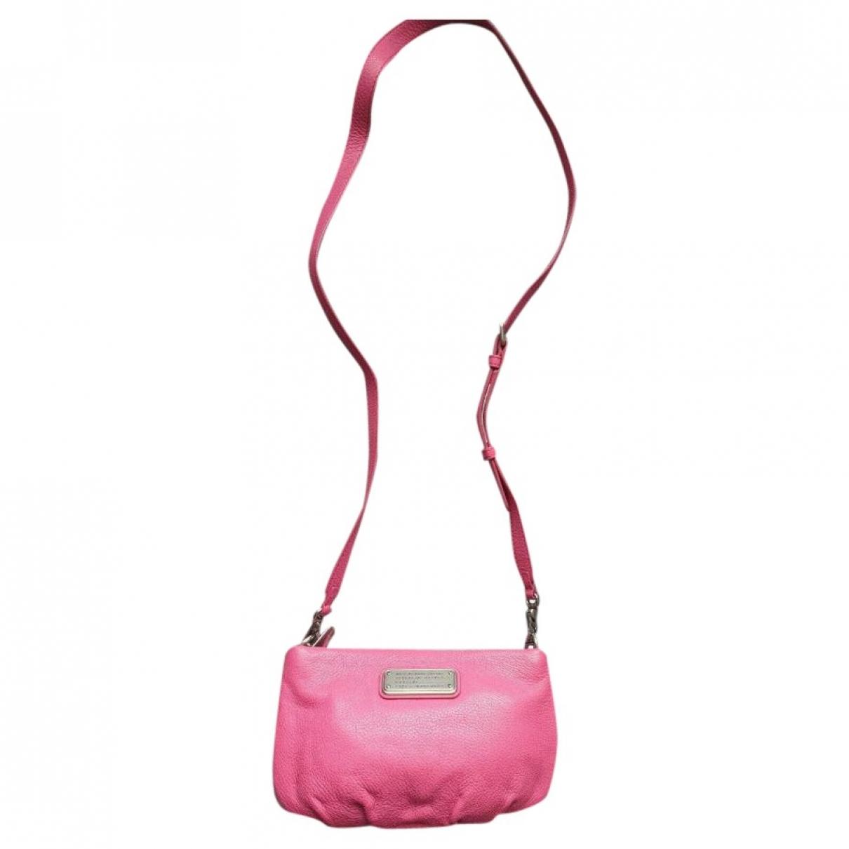 Marc By Marc Jacobs - Pochette   pour femme en cuir - rose