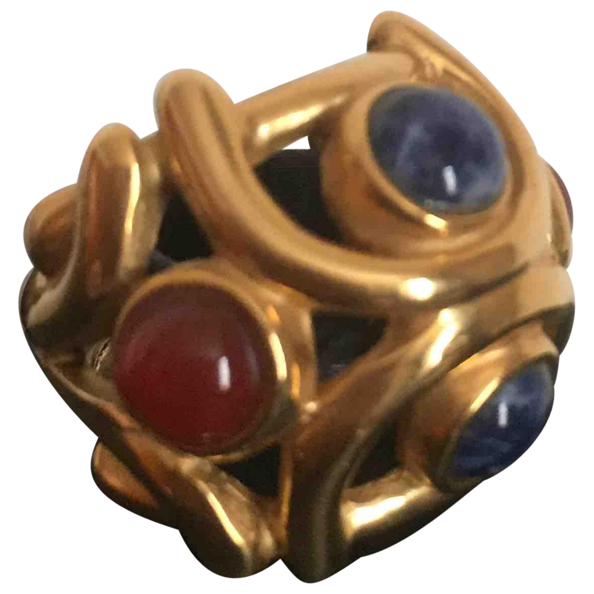 Non Signe / Unsigned Bagues Cocktails Ring in  Gold Metall