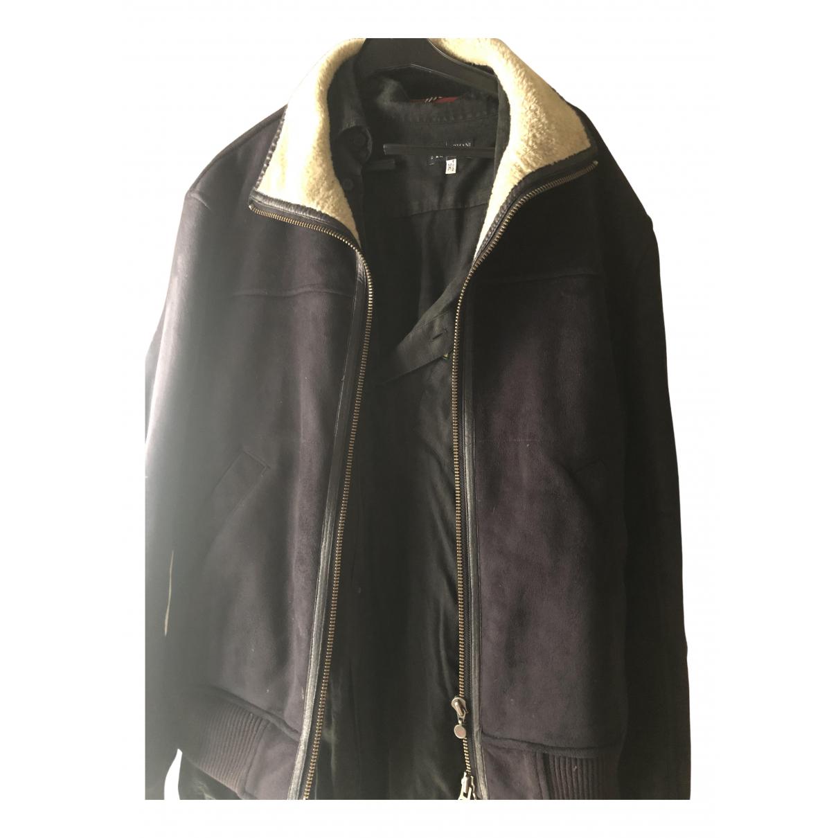 Armani Jeans N Black Suede jacket  for Men L International