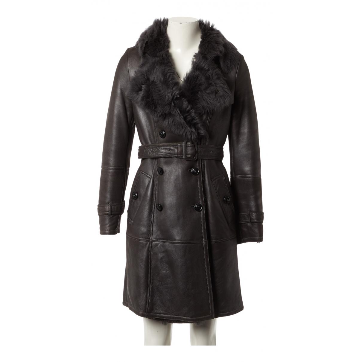 Burberry - Manteau   pour femme en mouton - gris