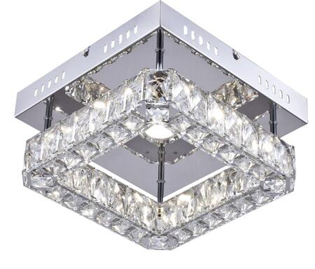 KD10-3 LED Single Pendant Lighting with Stainless steel and Crystal Materials and 16 Watts in Chrome