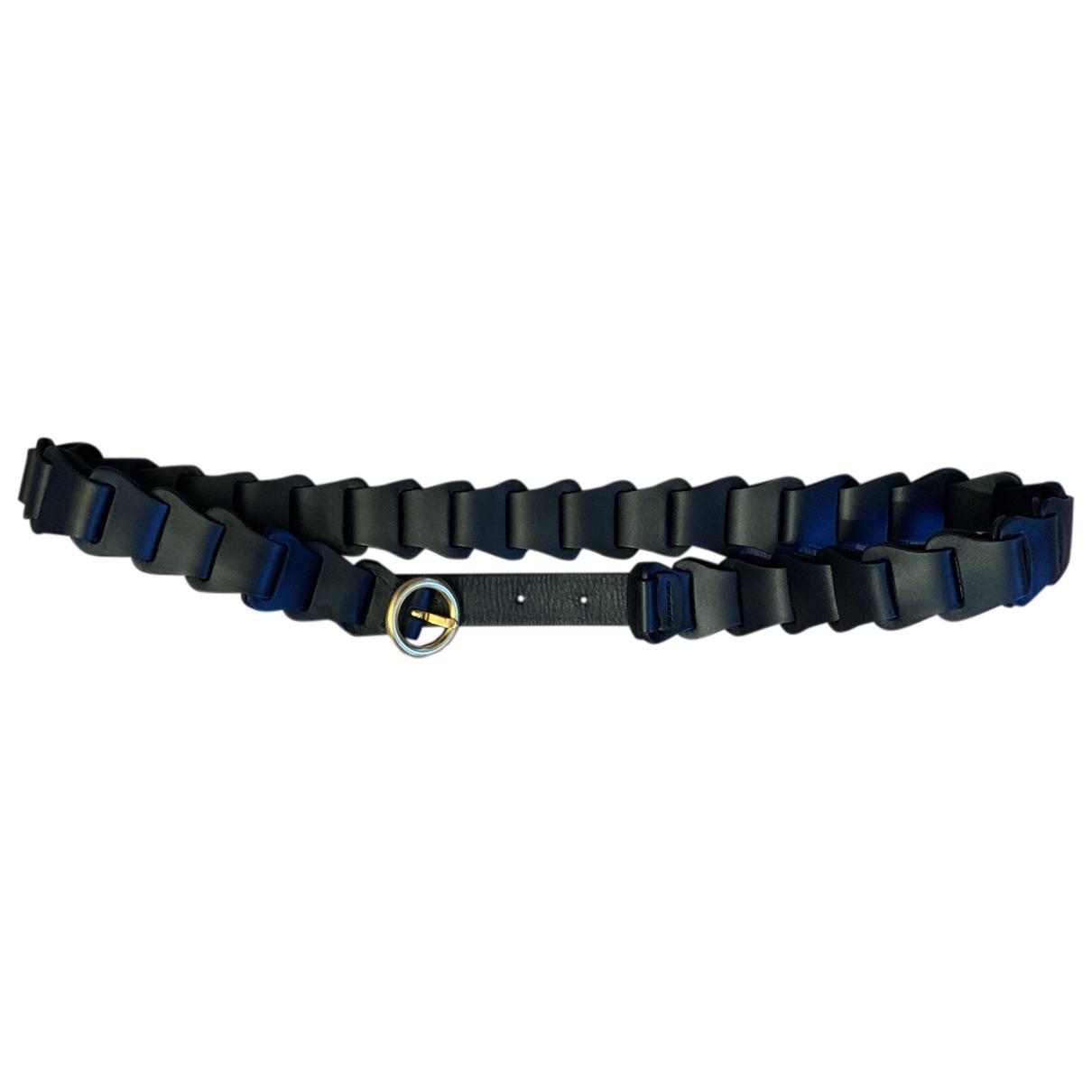 Bottega Veneta N Black Leather belt for Women 35 Inches