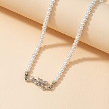 Angel Decor Beaded Necklace