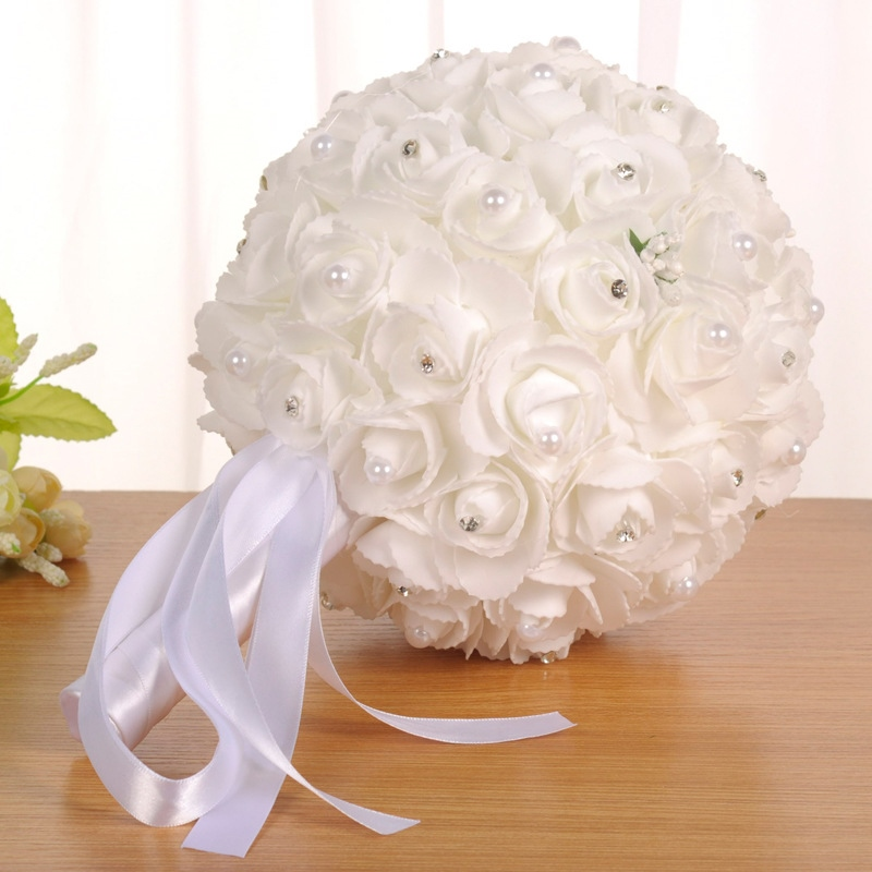 Fabric European Rose Wedding Decorating Flowers