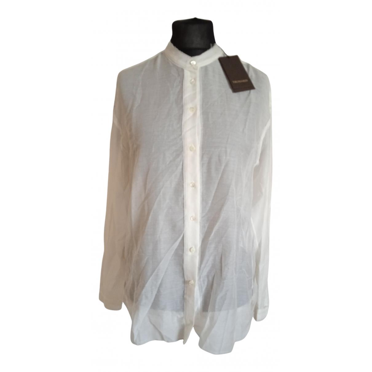 Trussardi Jean - Top   pour femme en coton - beige