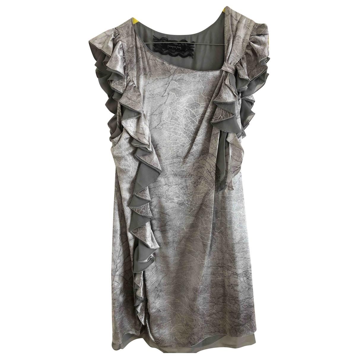 Patrizia Pepe \N Grey Silk dress for Women 44 IT