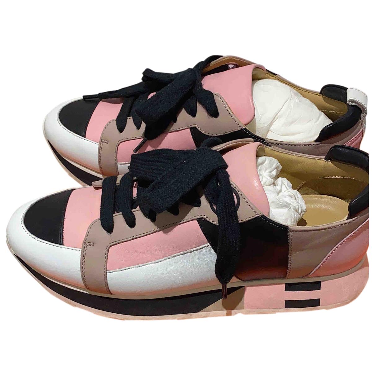 Hermès N Multicolour Leather Trainers for Women 35.5 EU