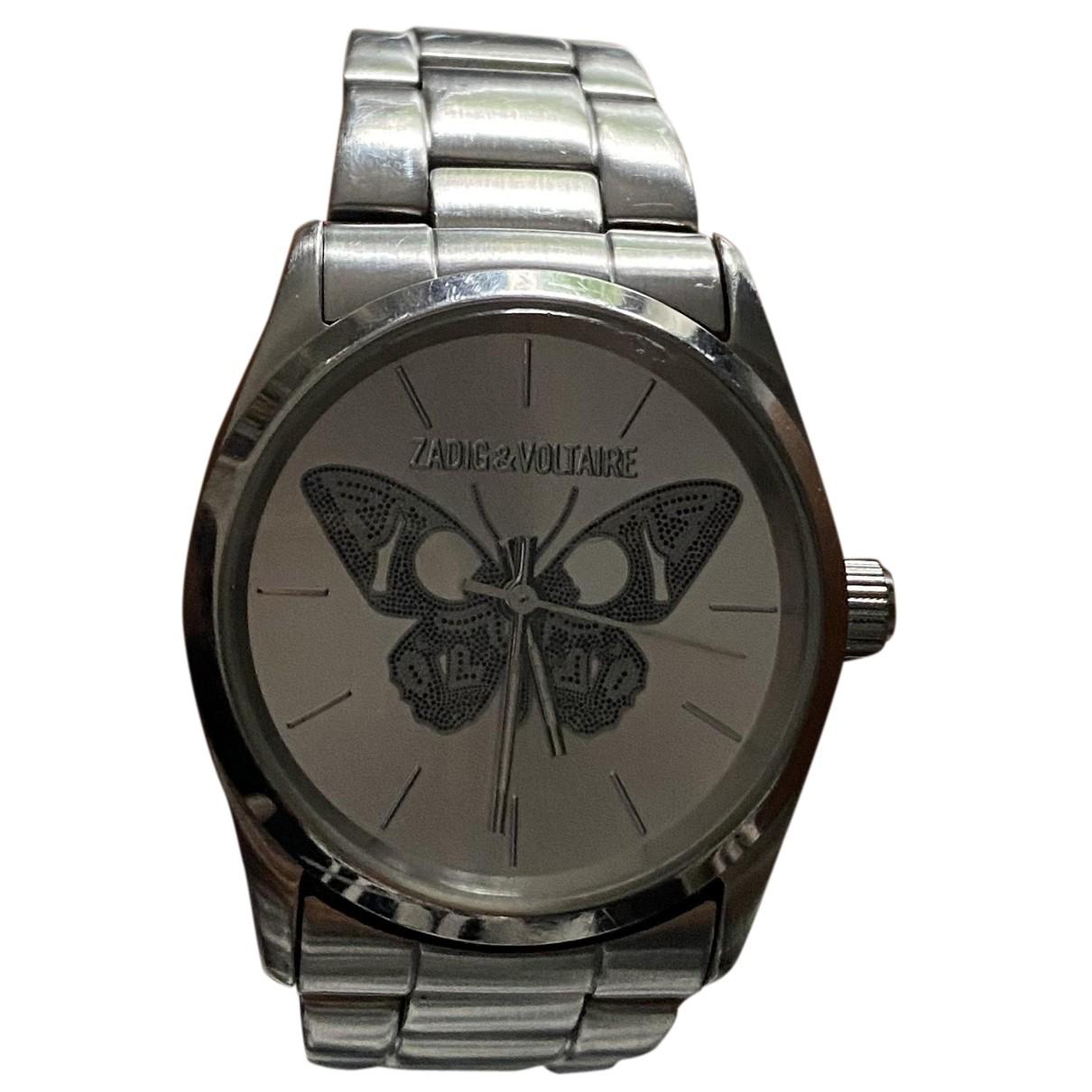 Zadig & Voltaire - Montre Papillon pour femme en acier - argente