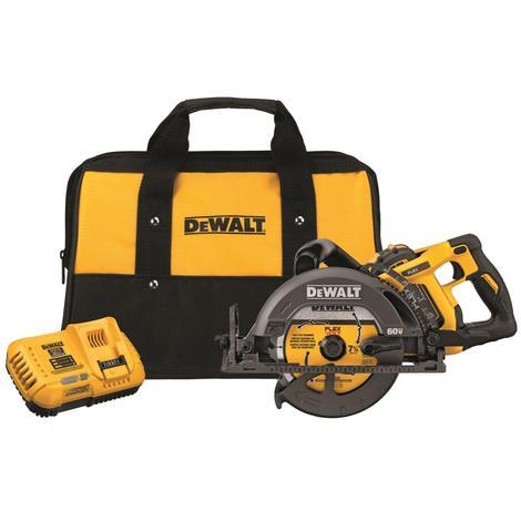 """DeWalt Flexvolt® 60V Max* 7-1/4"""" Worm Drive Style Saw (9.0Ah Battery)"""