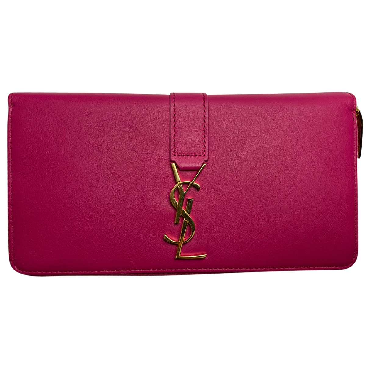 Saint Laurent Ysl line Pink Leather wallet for Women N