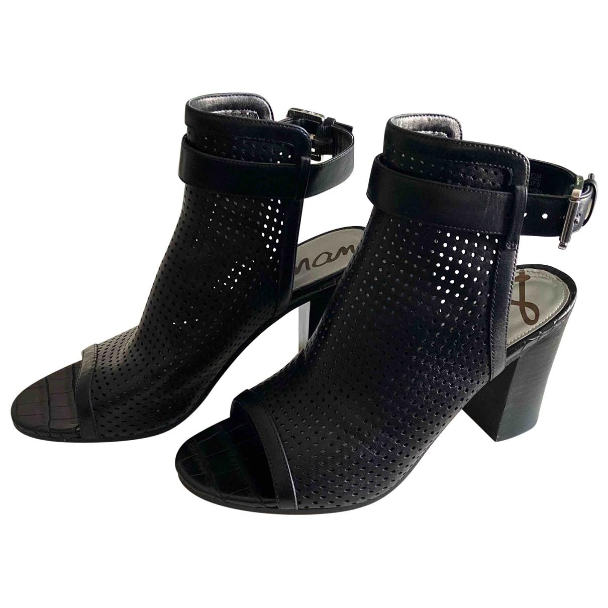 Sam Edelman \N Black Leather Sandals for Women 7.5 US