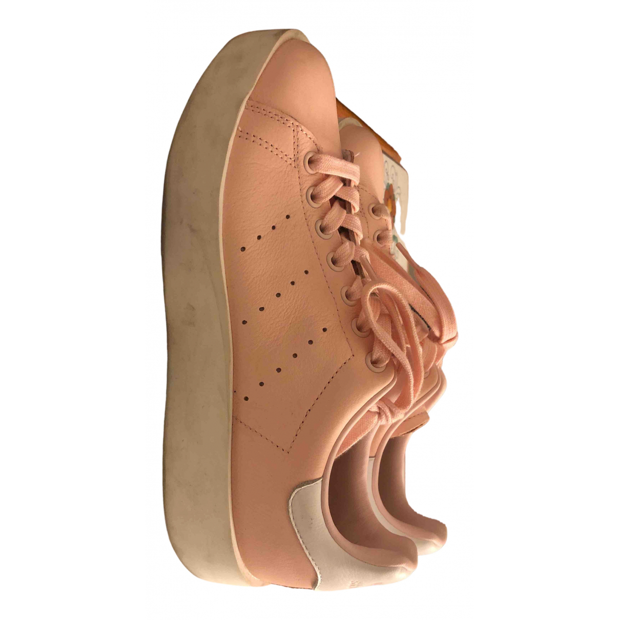 Adidas Stan Smith Pink Leather Trainers for Women 8.5 US