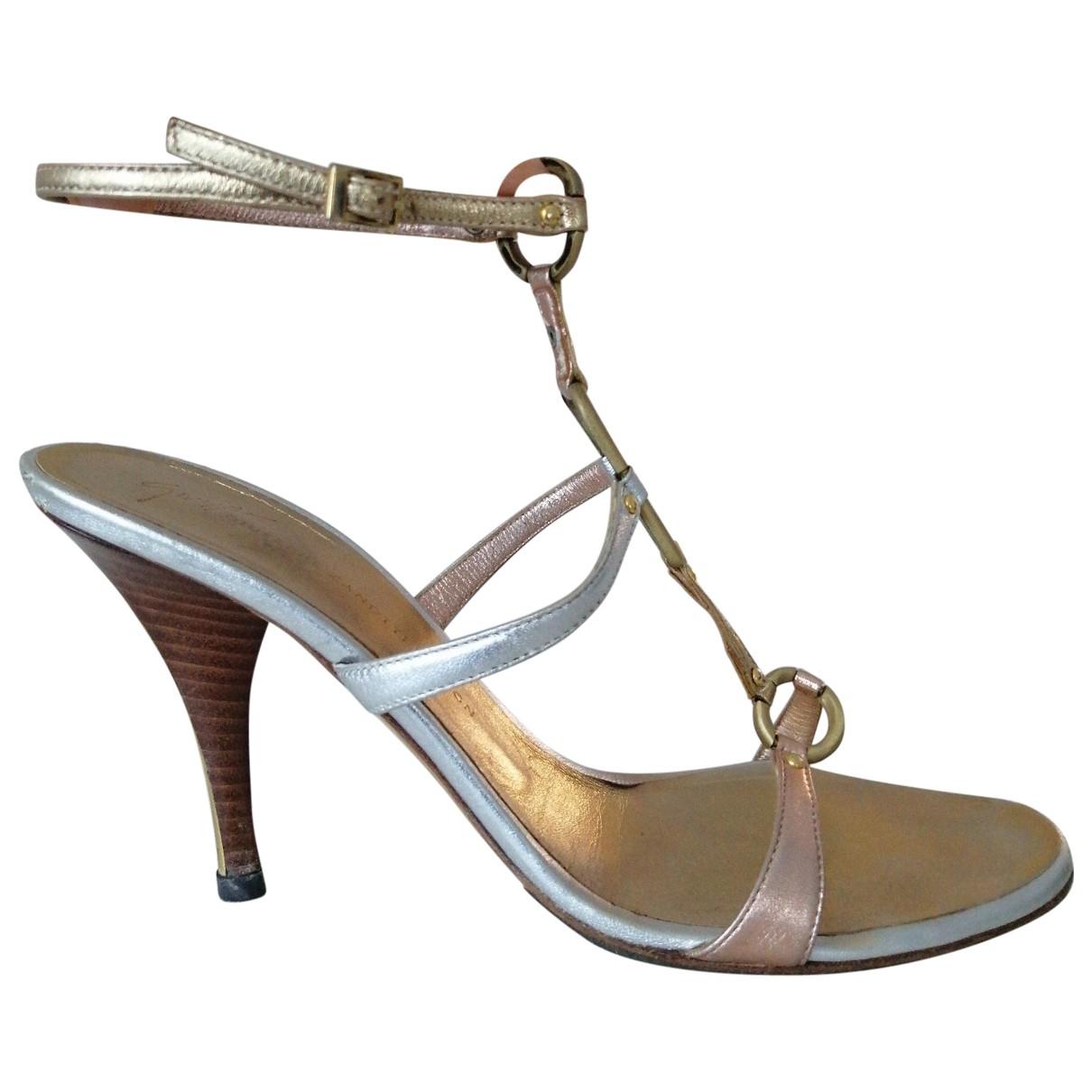 Giuseppe Zanotti \N Silver Leather Sandals for Women 39 EU