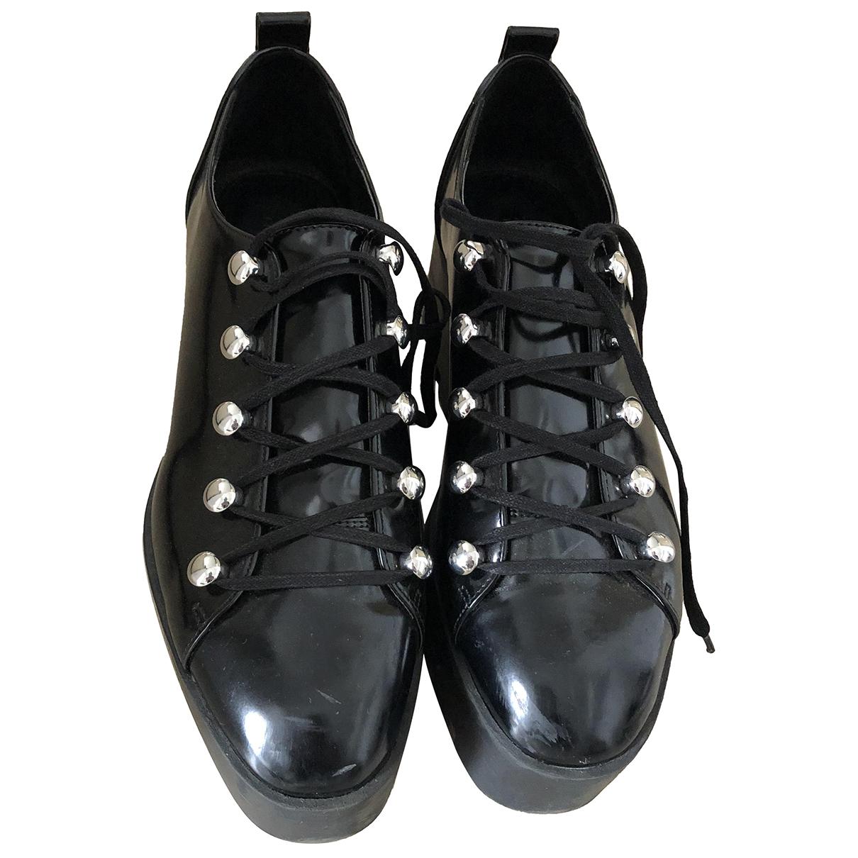 Zara - Espadrilles   pour femme en cuir - noir
