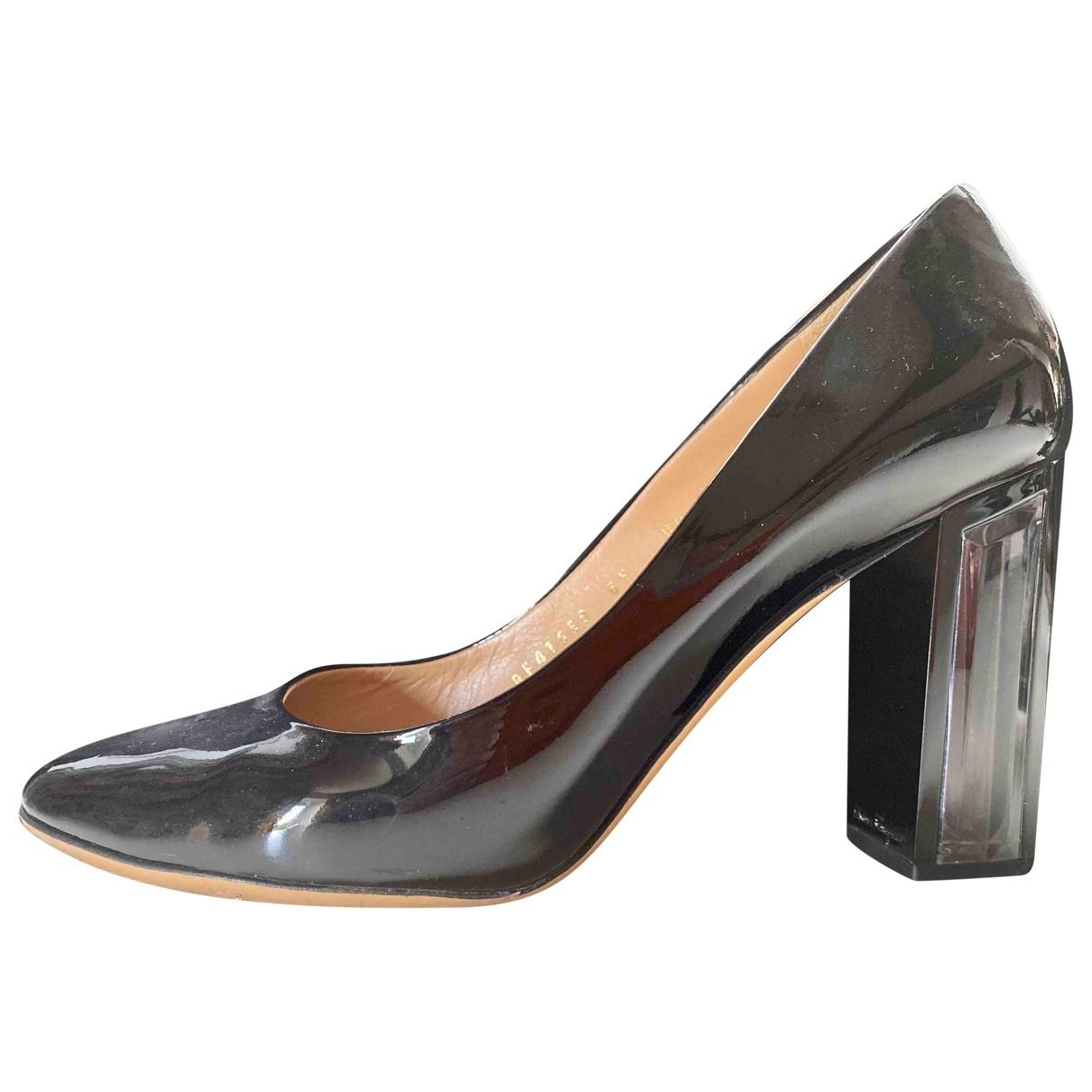 Salvatore Ferragamo \N Black Patent leather Heels for Women 8.5 US