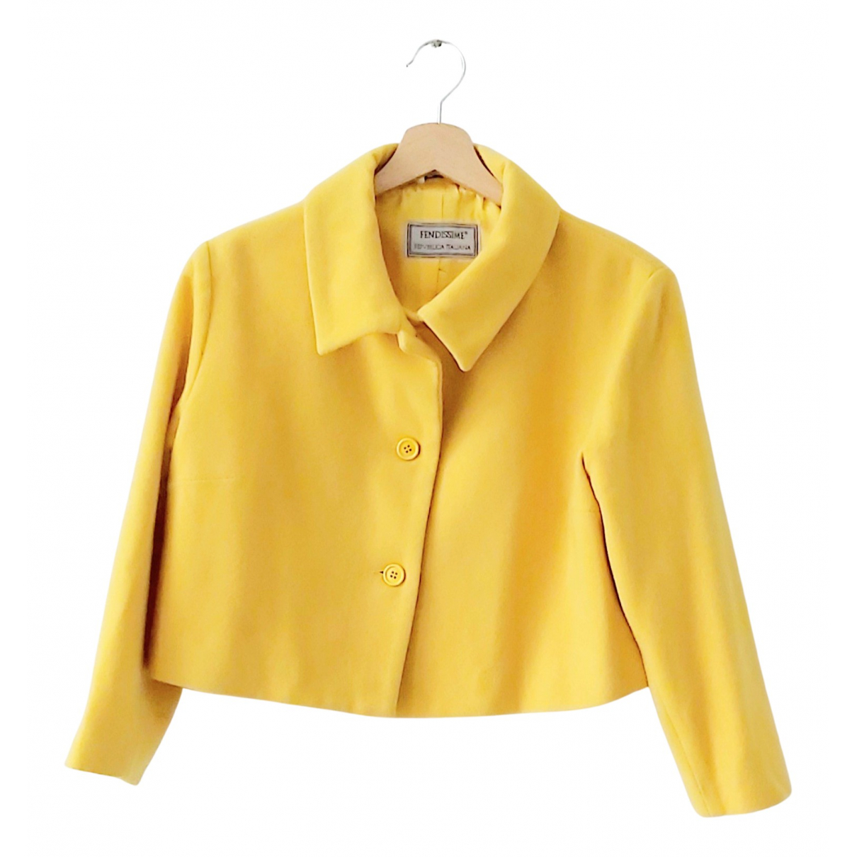 Fendissime \N Jacke in  Gelb Wolle