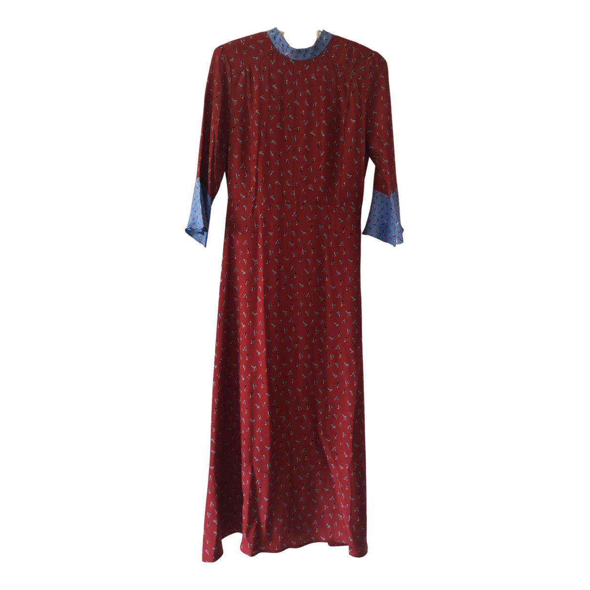 Hvn \N Kleid in  Rot Seide