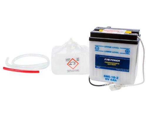 Fire Power Parts 490-2057 Battery W/Acid 6n6-1d-2 6v 490-2057
