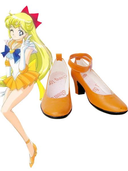 Milanoo Halloween Sailor Moon Sailor Venus Cosplay Zapatos Aino Minako