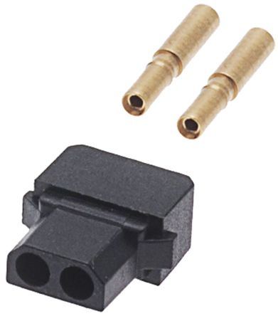 HARWIN Datamate Connector Kit Containing 2 way SIL Female Shell, Crimps