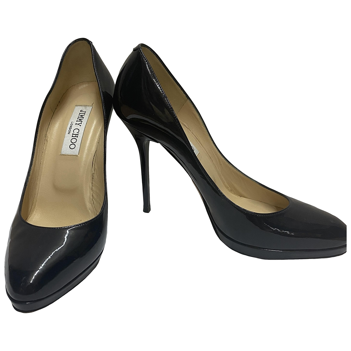 Jimmy Choo \N Navy Patent leather Heels for Women 4 UK