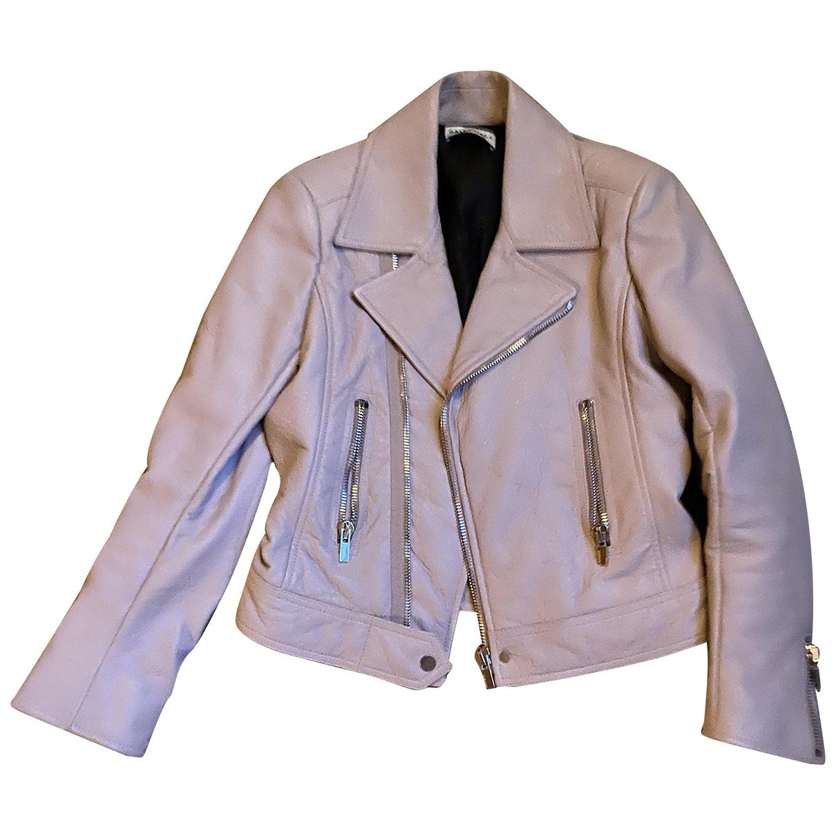 Balenciaga - Veste   pour femme en cuir - rose