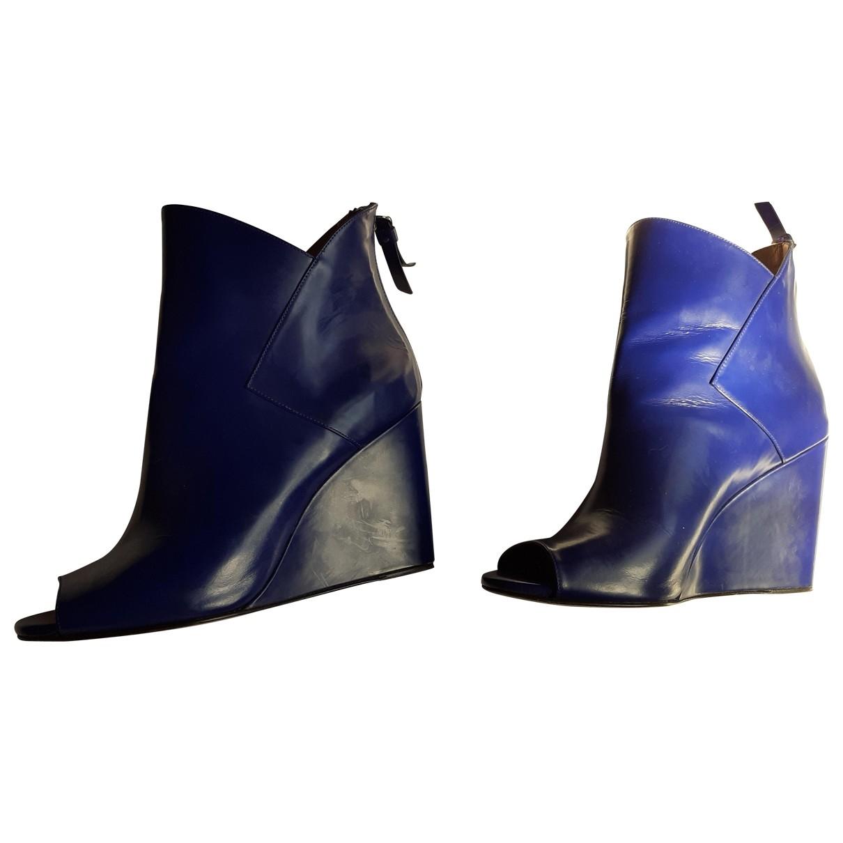 Castaner - Sandales   pour femme en cuir - bleu