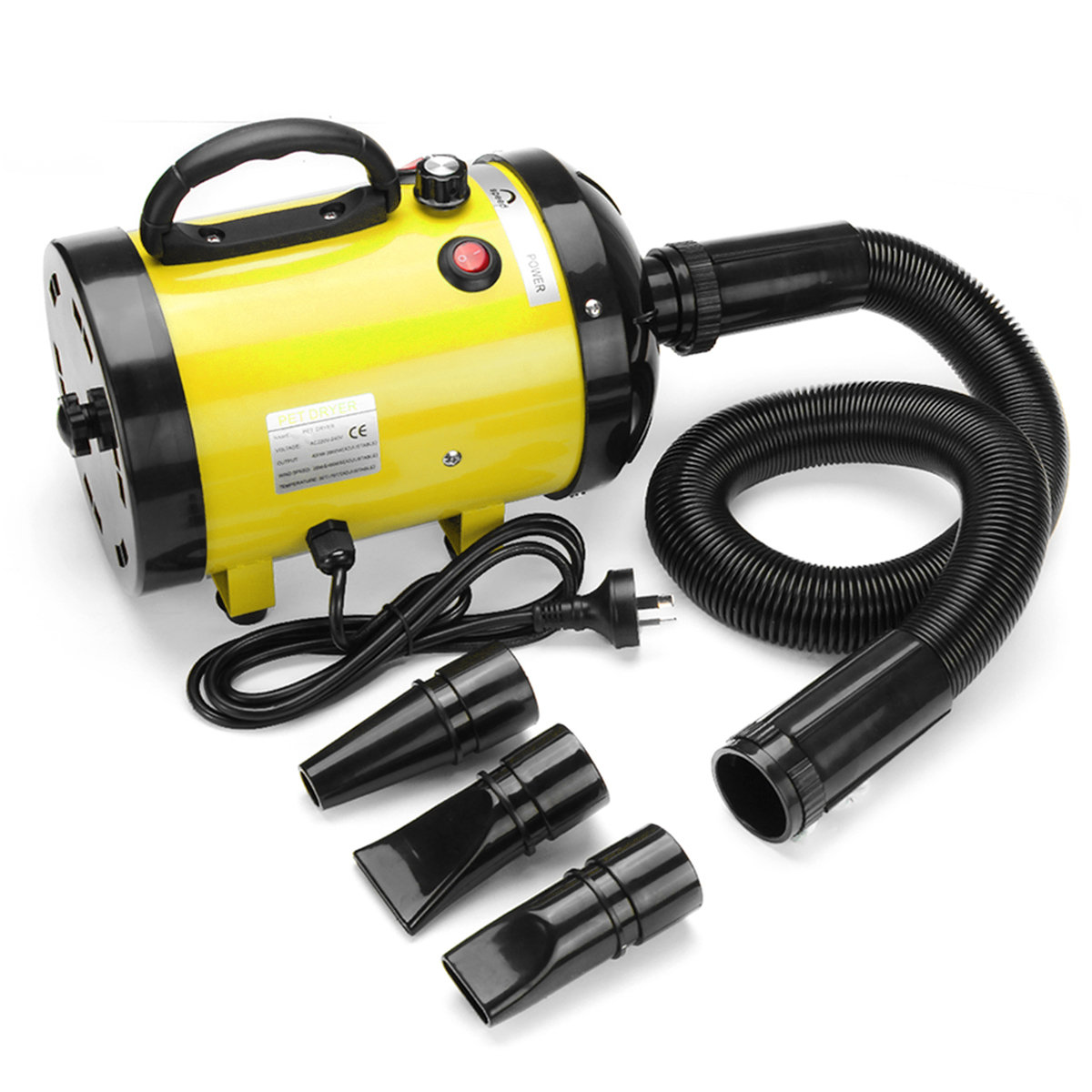 2800W Pet Fur Dryer Grooming Blower Dog Cat Hairdryer Blaster Heater Low Noise AU Plug