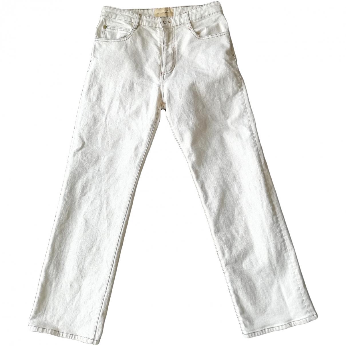 Sessun \N Beige Cotton - elasthane Jeans for Women 38 FR