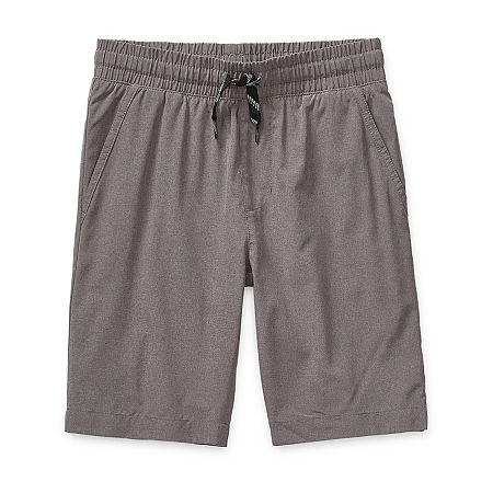 Arizona Little & Big Boys Adjustable Waist Hybrid Short, Large Husky , Gray
