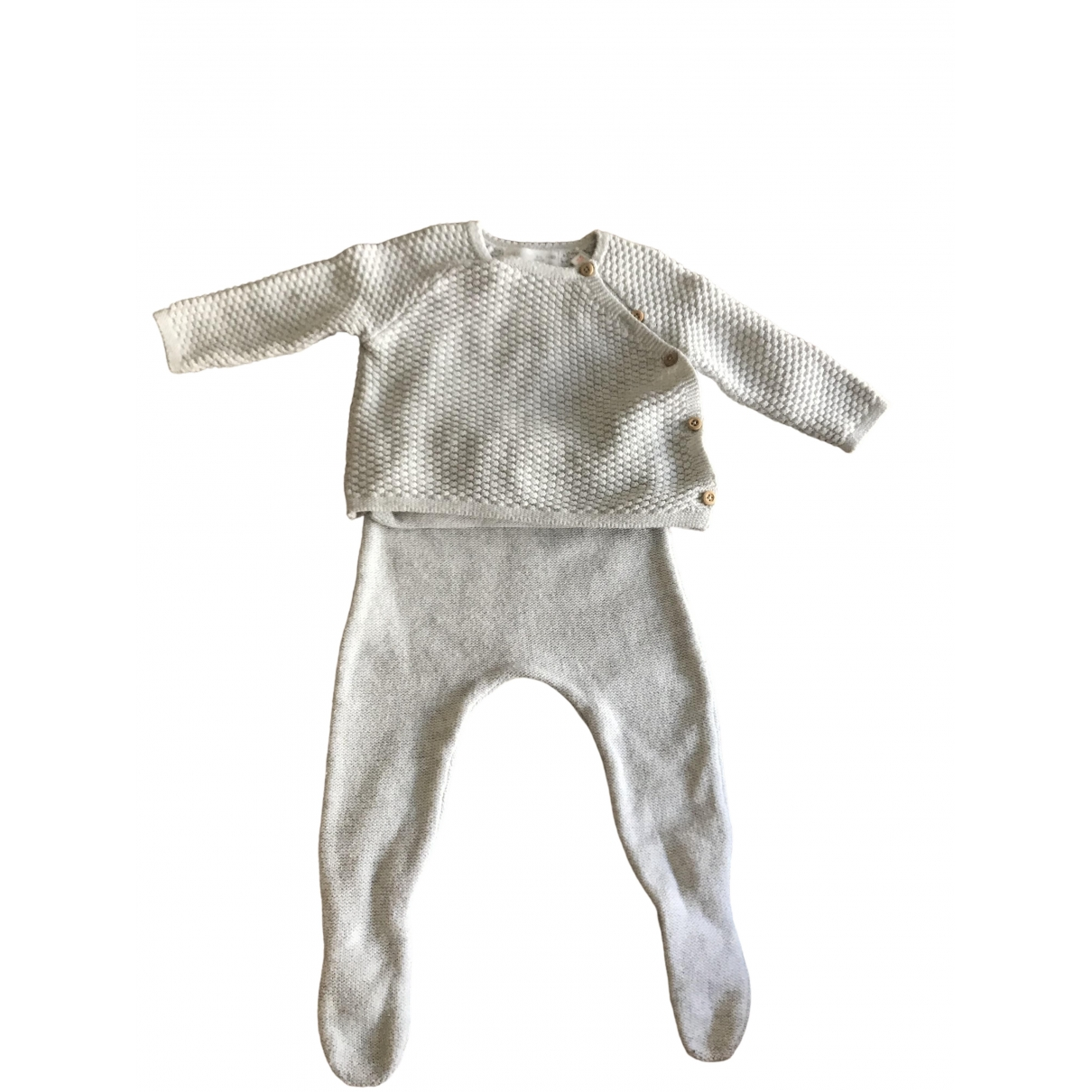 Zara \N Ecru Cotton Outfits for Kids 3 months - up to 60cm FR