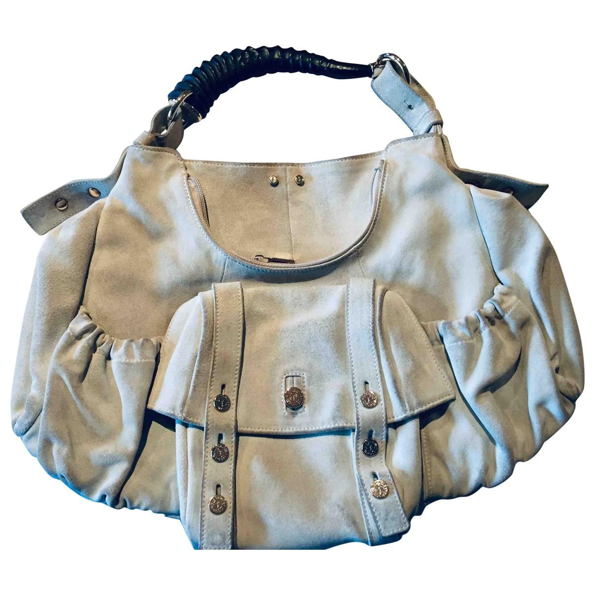 Yves Saint Laurent Mombasa White Suede handbag for Women \N