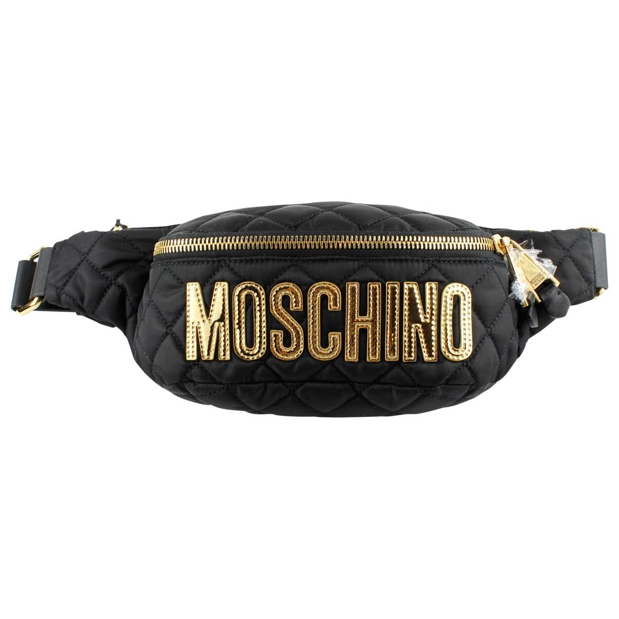 Moschino - Sac a main   pour femme en toile - noir