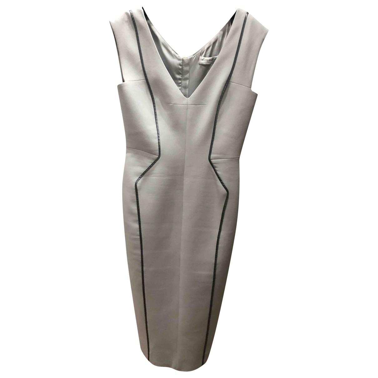 Amanda Wakeley \N Kleid in  Grau Polyester