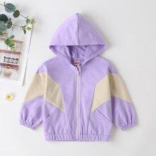Baby Girl Colorblock Zip Up Jacket