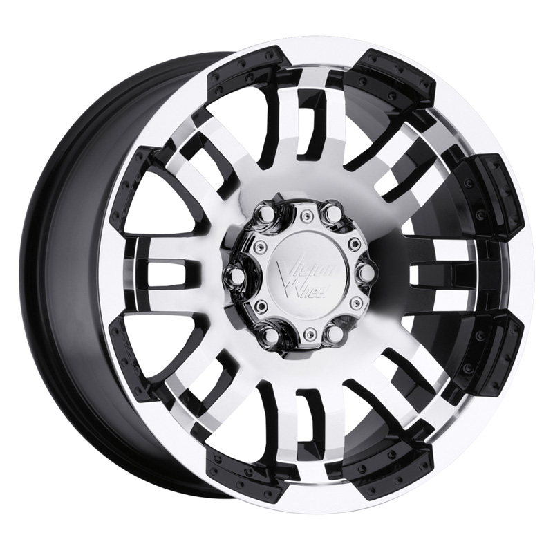 Vision Warrior Gloss Black W/Machined Face Wheel 18x8 5x114.3 18mm
