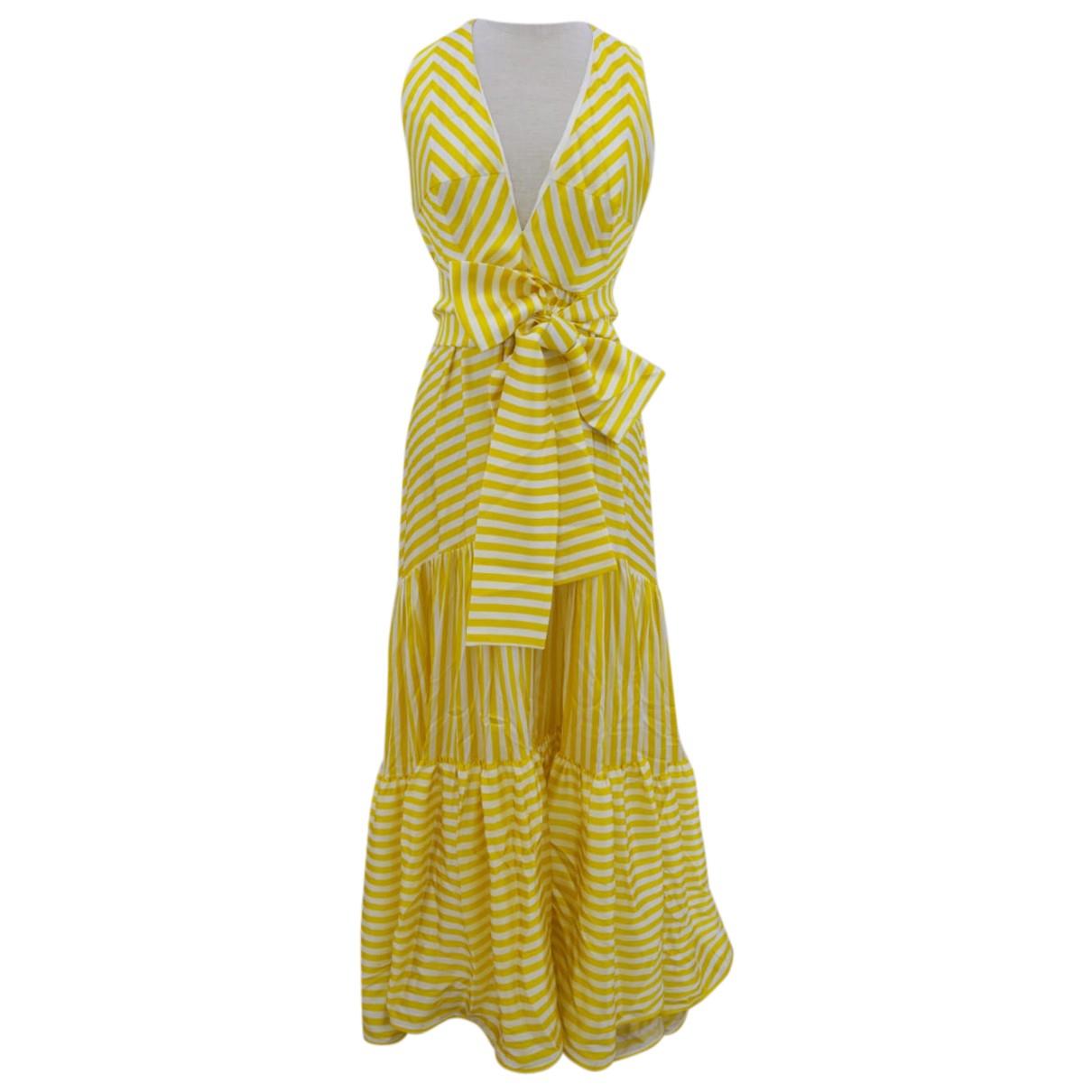 Silviatcherassi - Robe   pour femme en soie - jaune