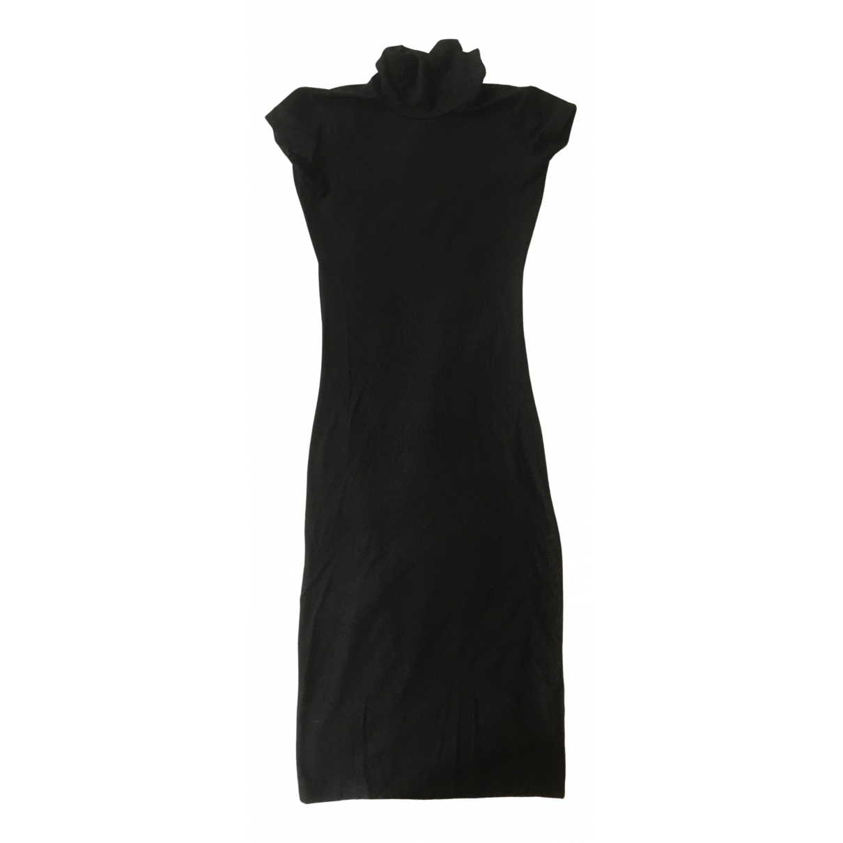 Non Signé / Unsigned \N Black Cotton - elasthane dress for Women One Size International