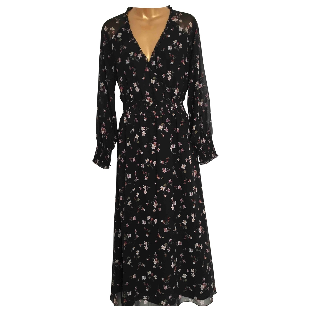 Madewell \N Kleid in  Schwarz Polyester