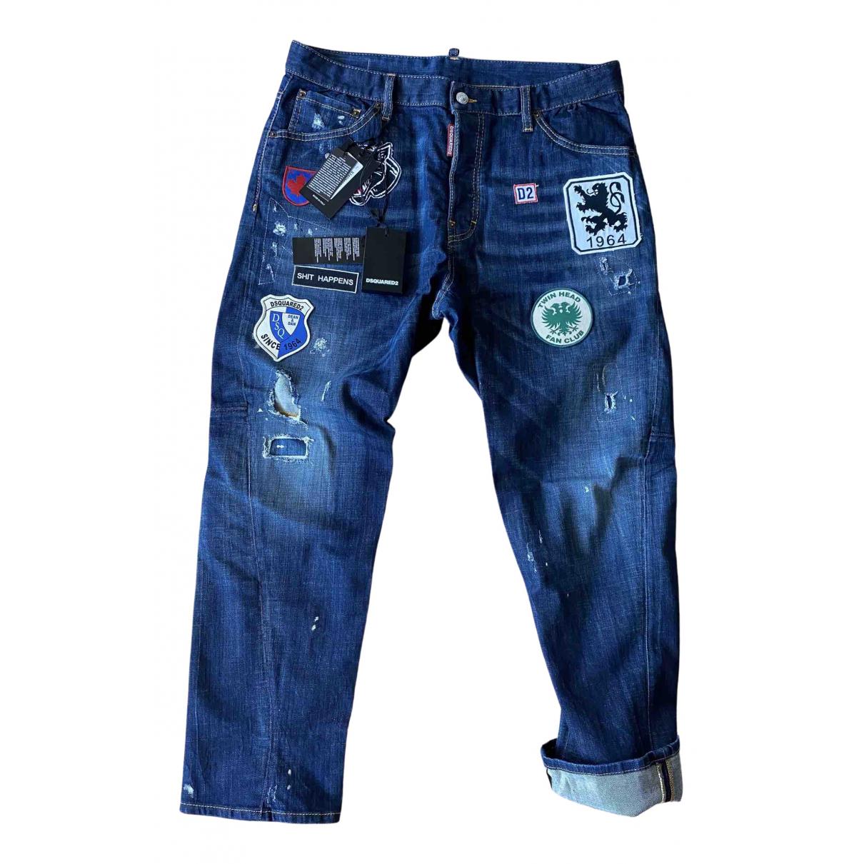 Dsquared2 \N Blue Cotton - elasthane Jeans for Men 34 US
