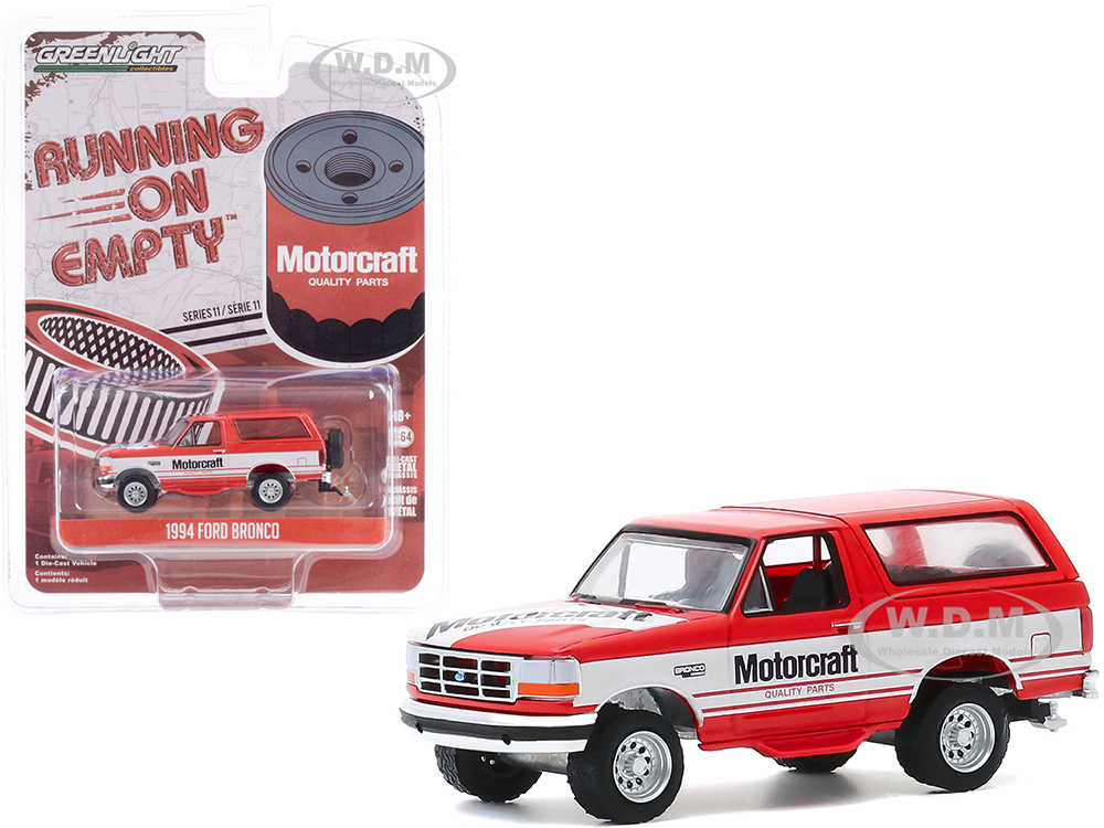 1994 Ford Bronco Red with White Stripes