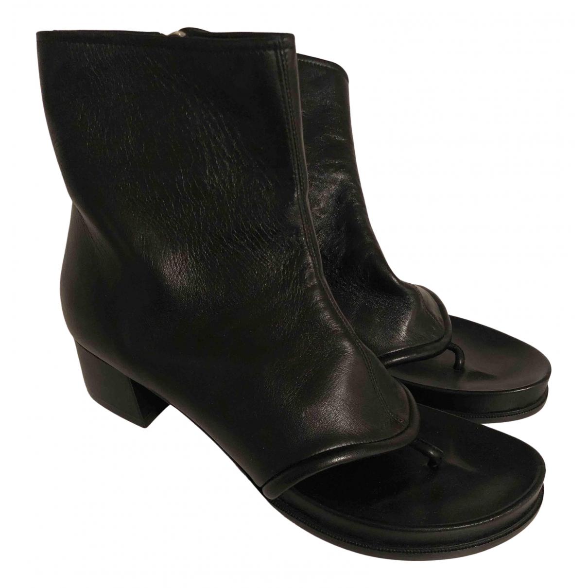 Loewe - Sandales   pour femme en cuir - noir
