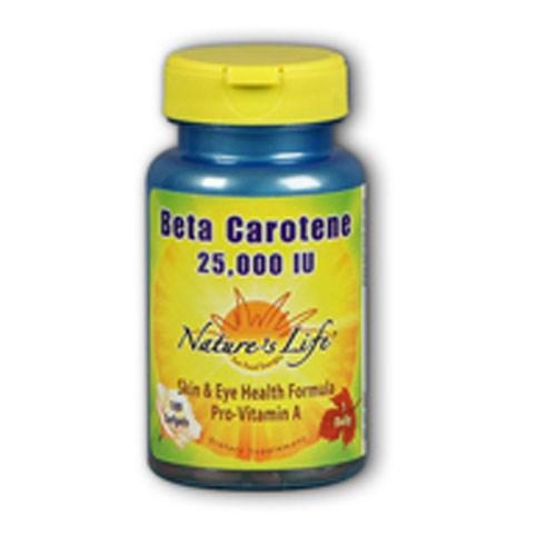Beta Carotene 250 softgels by Nature's Life