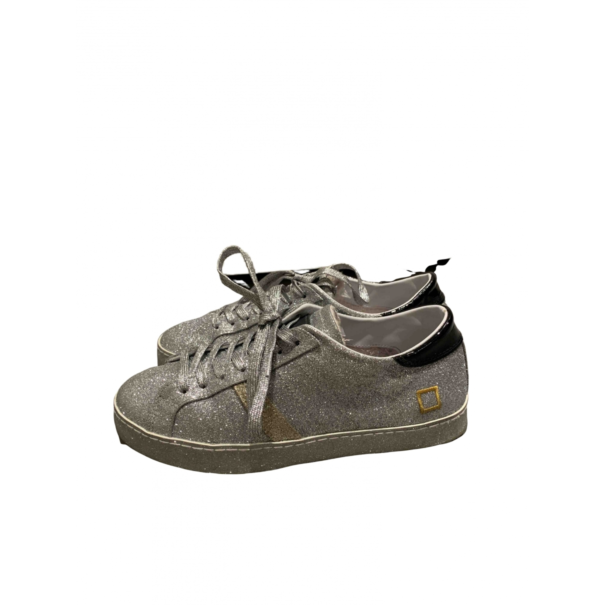 Non Signé / Unsigned \N Silver Leather Trainers for Women 39 EU